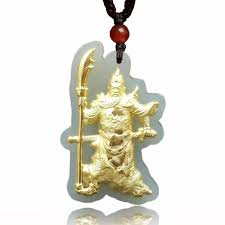 2019 yellow gold pendant jade necklace hetian jade loyalism guan yu pendant men s domineering fine jewelry from dujuanflower 108 71 dhgate com