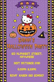 Hello Kitty Invitation Hello Kitty Halloween Invitation Design 3