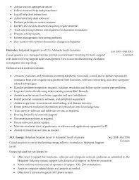 Resume Format For Desktop Support Engineer Resume Template Sample