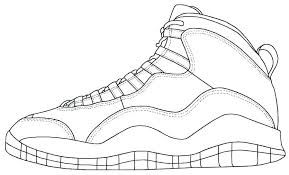 Jordan Coloring Pages Shoes Hujimidansi