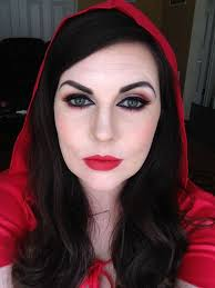 red riding hood makeup scary red3