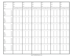 Workout Tracking Sheet Storywave Co
