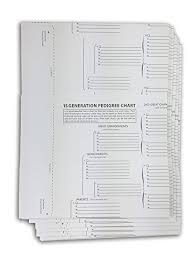 15 Generation Genealogy Chart Treeseek 15 Generation Pedigree Chart 5 Pack Blank
