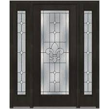 front doors with glass. Fine Front 60 In X 80 Carrollton RightHand Full Lite Decorative Stained  Fiberglass Throughout Front Doors With Glass F