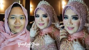 tutorial makeup wedding muslim dan hijab simple elegan dengan mahkota