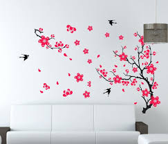 wall decals flowers and butterflies large plum blossom flower removable wall  sticker decor decal us room