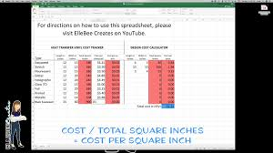 Htv Sizing Chart Htv Project Cost Calculator