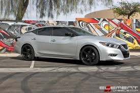 20x9 Rohana RC22 Matte Black on a 2016 Nissan Maxima w/ Specs Wheels