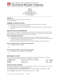 Functional Resume Format Examples Mind Map Business Case
