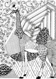 Get This Giraffe Coloring Pages For Adults Zentangle Art 91411