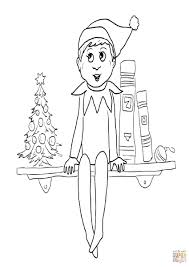 free print elf on the shelf coloring pages printable