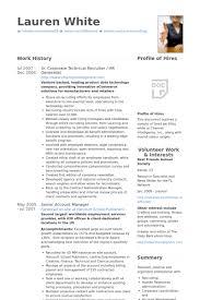 Sr. Corporate Technical Recruiter / Hr Generalist Resume samples