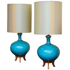 lighting and ceramics. Pair Of Large Blue Ceramic Lamps | From A Unique Collection Antique And Modern Table Lighting Ceramics X