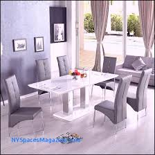monton extendable dining table in white with 6 vesta grey chairs monton modern extendable dining table in white high gloss