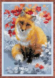Counted Cross Stitch Kit Riolis Fox Embroidery Counted