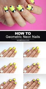 Geometric Neon Nails [NAIL ART TUTORIAL]