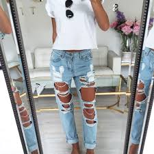 where can find cute boyfriend jeans
