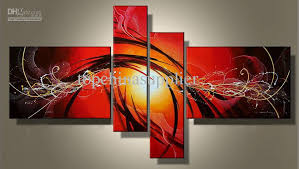 2018 art modern abstract oil painting multiple piece canvas art sets passionate 100 hand painted decor from topchinasupplier 44 02 dhgate com