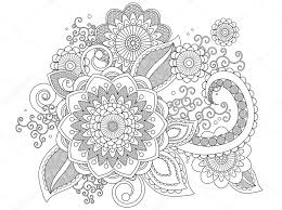 Henna Pattern Best Henna Pattern Coloring Page Stock Photo © Smk48 48