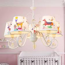 Großhandel Oovov Kinderzimmer Cartoon Kristall Kronleuchter Weiß Eisen Tuch Für Kinderzimmer Baby Zimmer Schlafzimmer Pendelleuchte Lampe Von