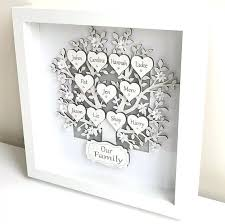 family tree frames personalised gifts box frame keepsake art shadow photo family tree picture frame