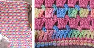 Crochet Patterns For Baby Blankets Adorable Block Stitch Crocheted Baby Blanket [FREE Crochet Pattern]