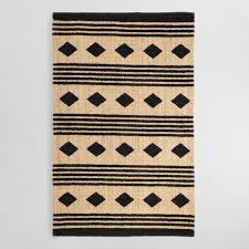 black jute rug 5x8 black and tan geometric chunky jute kaleb area rug black jute rug black jute rug