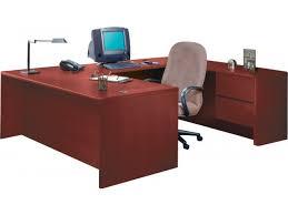 u shaped office desk. Modren Desk HON UShaped Office Desk With Right Pedestal Credenza In U Shaped