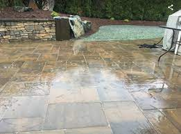 water puddle on pavers