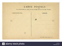 Postcard How To Address Back Of Historical French Postcard Blank Card With Correspondence
