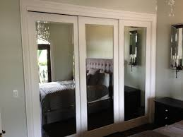 Sliding Mirror Closet Doors For Bedrooms Mirrored Sliding Closet Doors Makeover Contemporary Bedroom