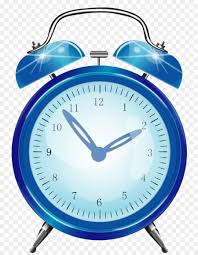 Alarm Clock Bedroom Table Alarm Device   Vector Hand Painted Blue Alarm  Clock