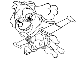 Skye Flying Coloring Page Free Printable Coloring Pages Skye Paw