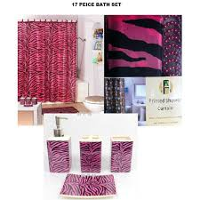 Interior Decorating Home: Shower Curtain Zebra Rings
