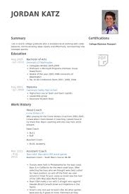 Coach Resume Example Examples Of Resumes