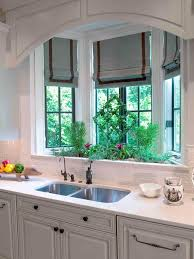 garden bay windows for kitchen striped pots in kitchen window