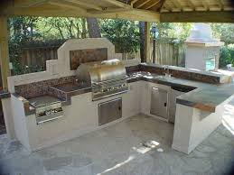 Flagstone Flooring Kitchen Kitchen Fabulous Outdoor Kitchen Ideas With Wooden Roof Stone