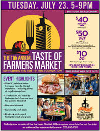 Samples Of Tickets For Events 11th Annual Taste Of Farmers Market In Los Angeles At Farmers