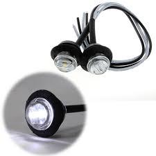 <b>1 Pair</b> Mini DC <b>12V</b> White 3 LED Marker Trailer <b>Truck Side</b> Bullet ...