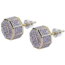 Mens Designer Earrings 2019 Designer Earrings Luxury Jewelry Men Earrings Hip Hop Iced Out Diamond Stud Square Screw Gold Bling Pandora Style Charms Rapper Wedding Gift From