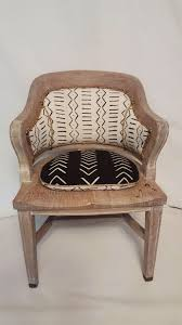 cerused oak mud cloth accent chair on chairish