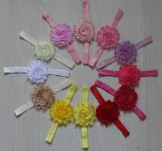 40pcs 2 5 shabby chiffon fabric flower headbands headband chiffon flowers for girls girl headbands