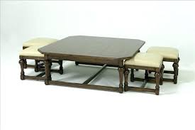 coffee table with nested ottomans coffee table with seats underneath coffee table with nested ottomans exciting
