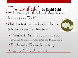 short story unit th grade english ppt video online 2 ldquothe landladyrdquo by roald dahl