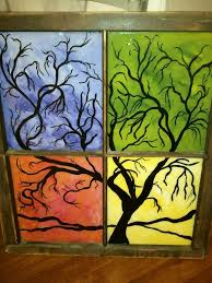 acrylic painting on glass fresh best 25 old windows painted ideas on