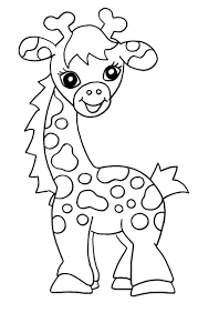Small Picture Giraffe Coloring Pages fablesfromthefriendscom