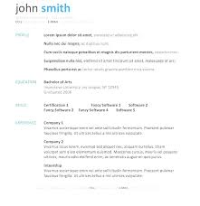 Microsoft Resume And Cv Templates – Universitypress