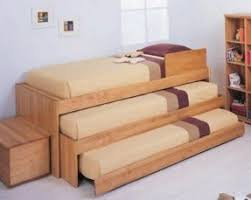 Triple trundle bed