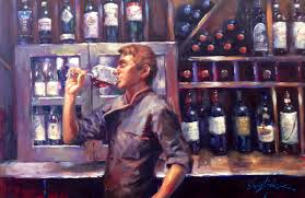 artist christopher m captured chef mario cassineri in his painting titled after hours
