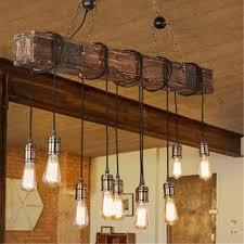 vintage wood industrial pendant lamp